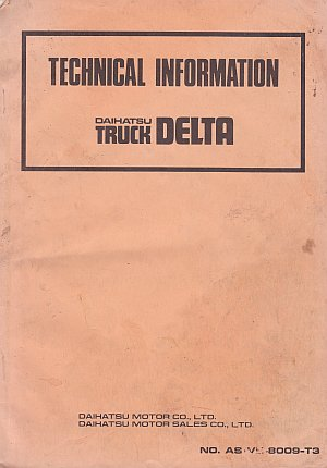 Daihatsu Delta Truck Technical Information Sept 1980